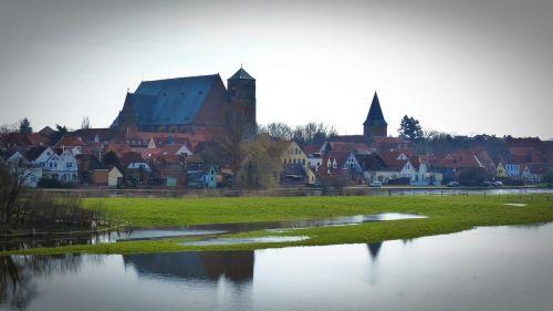 iš visų Verdener dom,Dom,bažnyčia,Senamiestis,visi,upė