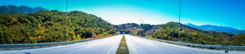 per egnatia maršrutą,greitkelis,greitkelis,kelias,kalnai,kraštovaizdis,ruduo