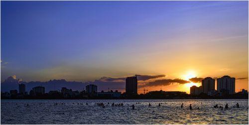 Vietnamas,Hanojus,Ho Tay,vietnamiečių,ežeras,Vietnamo kraštovaizdis,Hanojus kapitalas
