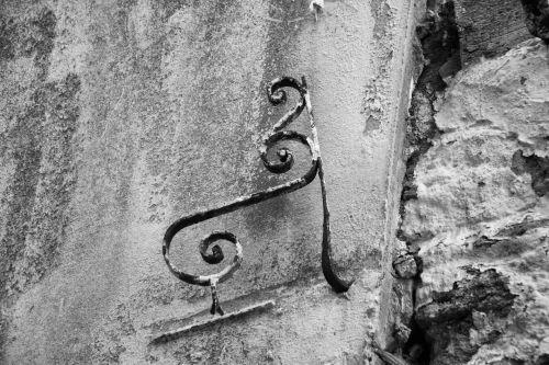 geležis, apdorotas geležis, suklastoti, senas, metalas, siena, juoda & nbsp, balta, senas kalvotas geležis