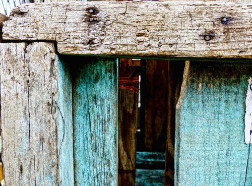 dėžė, mėlynas, tekstūra, skylė, vaizdas, viduje, senas, nagai, mediena, siaura, peržiūrėkite lentynos viduje