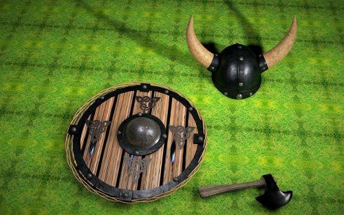 viking,skydas,kirvis,vairas,Viduramžiai,kovoti,mūšio skydas,vikingo skydas,metalas,istoriškai,ginklai