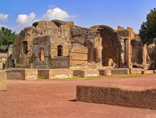 vila adriana,Hasrio vila,tivoli,italy,Europa,senovė,sugadinti,Archeologinis saitas,vila,istorija