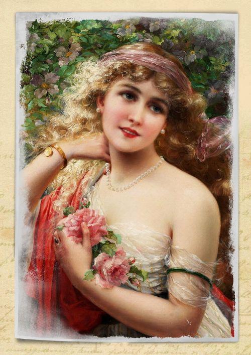 vintage,moteris,menas,koliažas,rožės,gėlių,gėlės,senovinis skaitmeninis menas,skaitmeninis menas,skaitmeninis,rožinis,suknelė,portretas,suaugęs,Lady,žmonės,Moteris,stilius,Menas ir amatai,patrauklus,graži,kelia,amatų,tradicinis,istorija,meno,mielas,mada,dekupažas