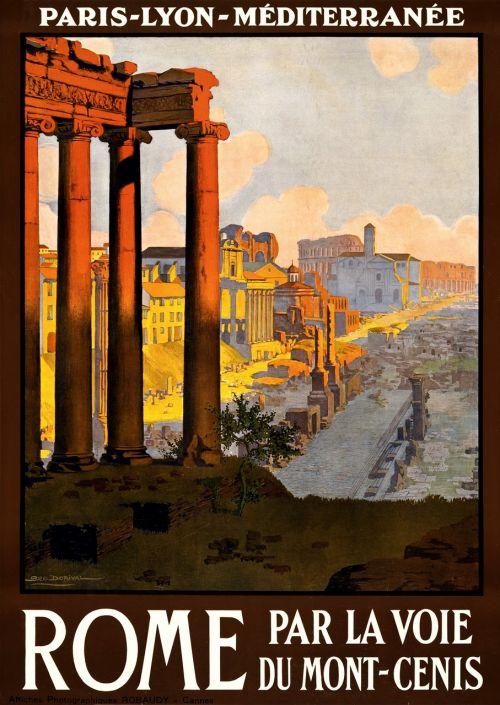 vintage,kelionė,kelionių plakatas,plakatas,atostogos,retro,derlius plakatas,kraštovaizdis,vaizdingas,vietos,nuotykis,turizmas,griuvėsiai,architektūra,Roma,paskirties vietos,pastatas,akmuo,italy,senovės