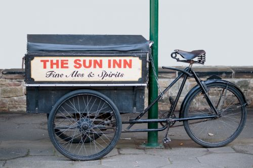 vintage, dviratis, dviratis, senas, amžius, grandinės, pranešimas, metalas, ženklas, reklama, Reklama, reklama, viešoji namas, baras, užeiga, alkoholis, gerti, Laisvas, viešasis & nbsp, domenas, senovinis dviračio reklaminis alkoholis