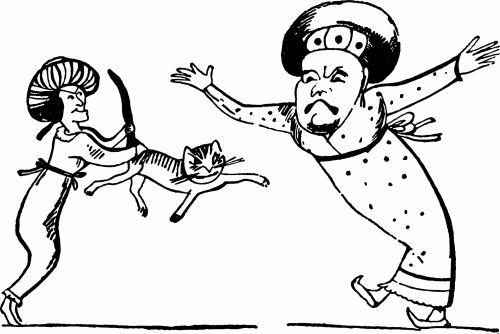 vintage, iliustracija, eskizas, juoda & nbsp, balta, edward & nbsp, lear, limericks, knygos & nbsp, iliustracija, nesąmonė, kvailas, žmonės, vyrai, chaosas, katė, gyvūnas, naminis gyvūnėlis, senovinių knygų iliustracija