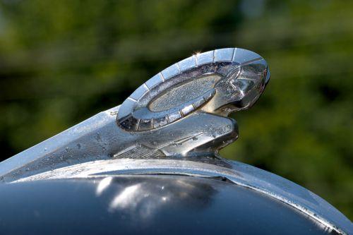 vintage, gaubtas & nbsp, ornamentas, dizainas, ornamentas, apdaila, automobilis, simbolis, retro, klasikinis, gabenimas, automatinis, Senovinis, chromas, gaubtas, nostalgija, senovinis automobilio gaubto ornamentas