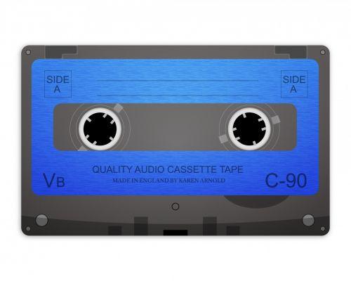 kasetė, juosta, garsas, kasetė & nbsp, juosta, garso & nbsp, kasetė & nbsp, juosta, įrašymas, įrašyti, iliustracija, menas, izoliuotas, balta, fonas, mėlynas, Laisvas, viešasis & nbsp, domenas, senovinė kasetė