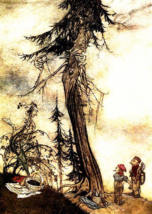 Iliustracijos, clip & nbsp, menas, iliustracija, grafika, knygos & nbsp, iliustracija, literatūra, Arturas & raquo, vintage, Senovinis, senas, aesop, pasakojimai, pasakos, menas, žmonės, vaikai, gamta, lauke, kraštovaizdis, scena, peizažas, medžiai, augalai, derliaus iliustracija