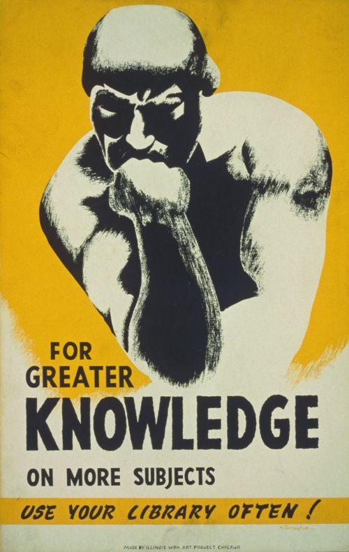 Iliustracijos, clip & nbsp, menas, iliustracija, grafika, vintage, plakatas, vintage & nbsp, plakatas, biblioteka, mokymasis, skaitymas, žinios, mąstytojas, vyras, mąstymas, senovinės bibliotekos plakatas