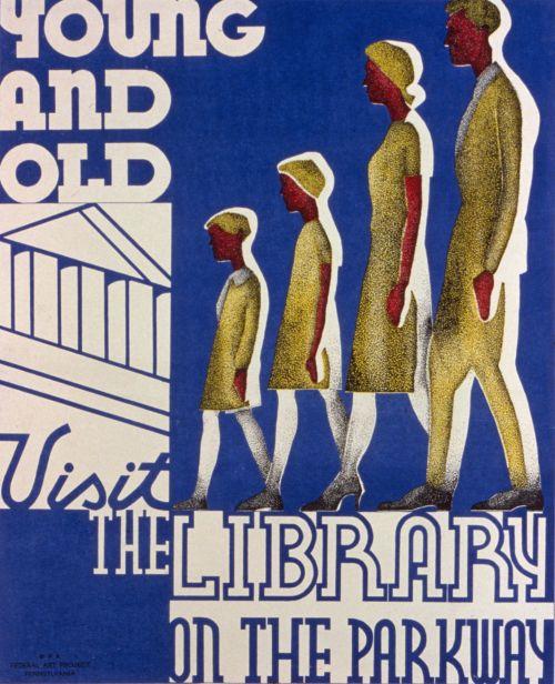 Iliustracijos, clip & nbsp, menas, iliustracija, grafika, vintage, plakatas, vintage & nbsp, plakatas, biblioteka, mokymasis, skaitymas, žinios, žmonės, aplankyti, senovinis viešosios bibliotekos plakatas