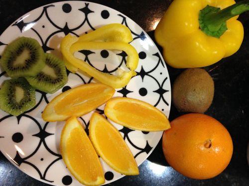 vitamino C,vaisių daržovės,plokštė