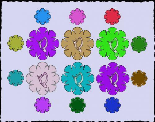 fonas, apdaila, ornamentu, spalva, kūrybingas, modelis, drugeliai, drugeliai