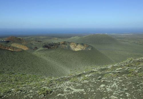 vulkaninis kraštovaizdis,lanzarote,timanfaya,lavos laukas,Kanarų salos,vulkaninis,krateris