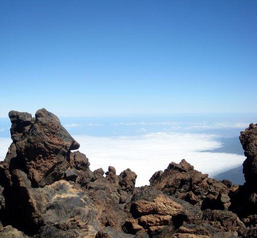 vulkaninis uolas,lava,Teide nacionalinis parkas,Tenerifė,gamta