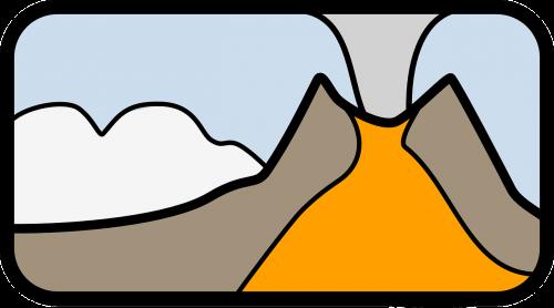 vulkanas,išsiveržimas,lava,kalnas,katastrofa,nemokama vektorinė grafika