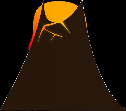 vulkanas,karštas,Ugnis,lava,kalnas,nemokama vektorinė grafika