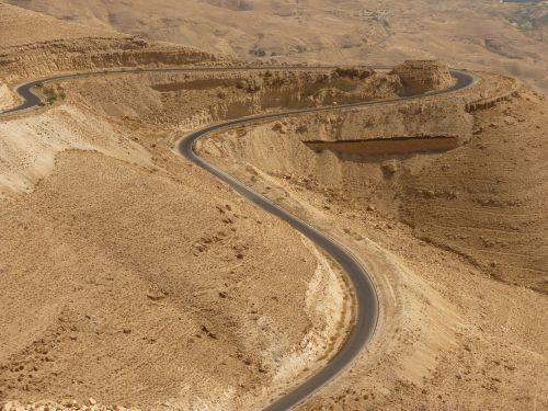 wadi mujib,jordan,šventė,kelionė,Artimieji Rytai,dykuma,smėlis,kraštovaizdis,kelias,kreivė,vairuoti