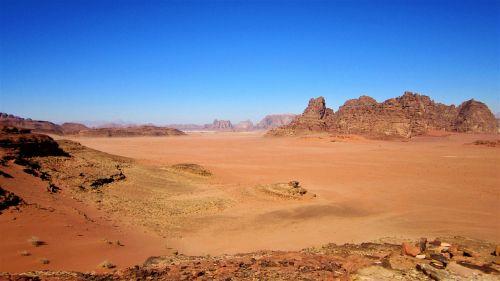 Wadi Rum, Jordan, Raudonas Smelis, Dykuma