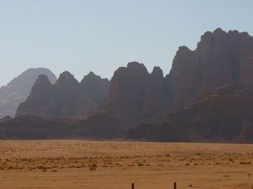 Wadi Rum, Negev, Negev Dykuma, Jordan, Šventė, Kelionė, Artimieji Rytai, Kraštovaizdis, Gamta, Dykuma, Smėlis, Kalnai, Migla, Safari