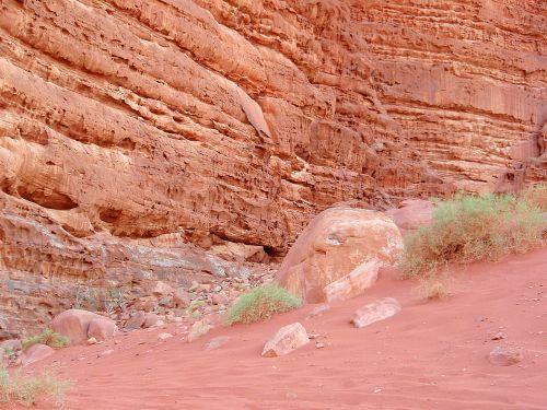 Wadi Rum, Jordan, Dykuma, Akmenys, Smėlis, Žalias, Kraštovaizdis