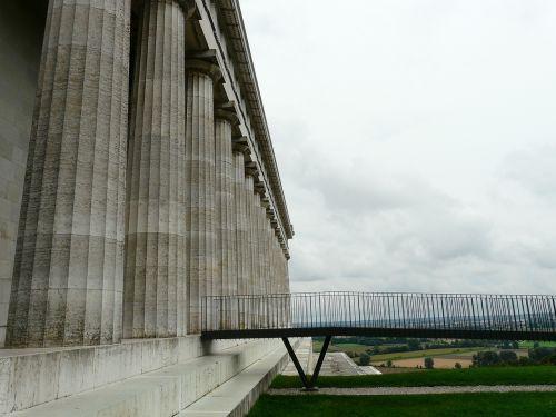 Walhalla,paminklas,kritulių salė,donaustauf,ludwig i,stulpelis,pastatas,didelis,galingas,įspūdingas,architektūra,vaizdas,Danube,kalnas,kalnas,perspektyva,internetas,tiltas