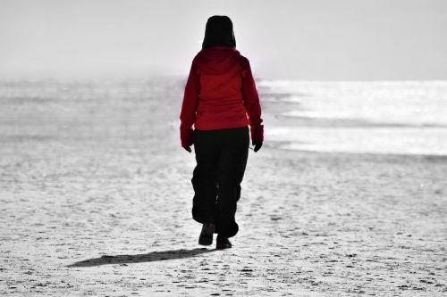 vaikščioti,Šiaurės jūra,kranto,atostogos,raudona,paplūdimio takas,poilsis,moteris,kraštovaizdis,gamta,šventė,papludimys