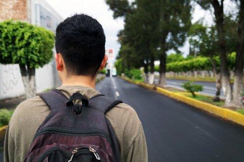 vaikščioti, vyras, pėsčiomis, žmogus, Gatvė, lauke, žygiai, Gyvenimo būdas, aktyvus, kuprinės, jauna, sėkmė, būdas, kelias