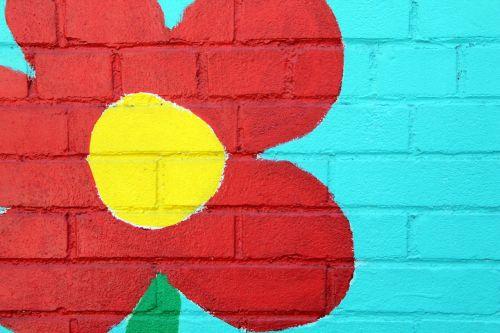 sienų menas,gėlė,dažymas,drobė