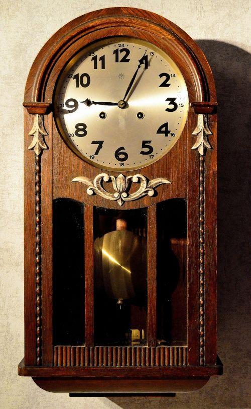 Sieninis laikrodis,laikrodis antikvariniai,švytuoklinis laikrodis,laikrodžio veidas,nostalgiškas,senas laikrodis,laikas,baigti,laikrodis