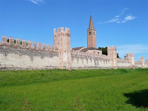 sienos, pilis, sienos, architektūra, Palazzo, gotika, metai, Torre, Prato, miesto sienos, dangus, viduramžių bokštas, kraštovaizdis, statybos, Viduramžiai, Miestas, Italija, dvaro, gynybinės sienos, kaimas, Šalis, viduramžių miestas, Viduramžių kaimas, tvirtovė