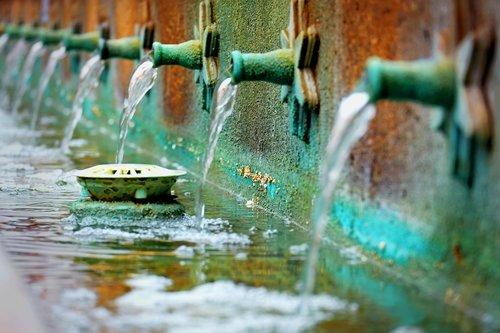vandens, šaltinis, šaltiniai, H2O, šlapias, splash, lašas, lauke, skystis, sodas