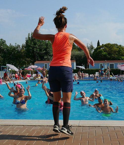vandens aerobika,garda,Sportas,sporto vadovas