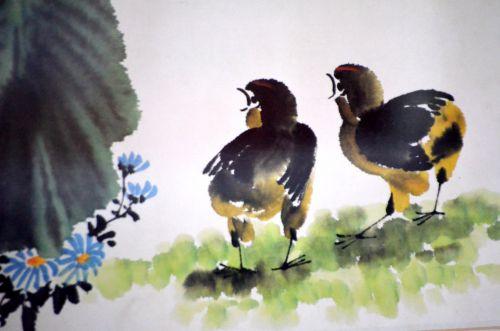 vanduo & nbsp, spalva, nuotrauka, dažyti, dažymas, spalva, gyvūnai, vištiena, pastelė, šepetys, menas, meno kūriniai, vandens spalva