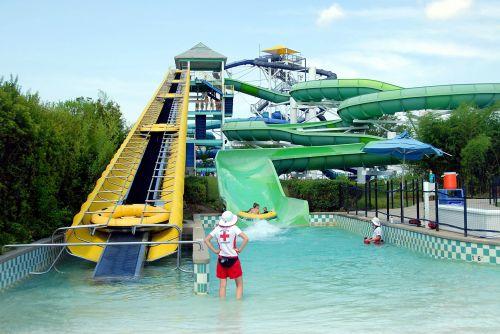 vanduo & nbsp, parkas, parkas, tema & nbsp, parkas, važiuoti, skaidrių, linksma, poilsis, pramogos, laisvalaikis, žmonės, vandens parkas