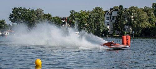 vandens sportas, Motorinė valtis rasės, lenktynių, Motorsport, lenktynių valtis, vandenys, Grünau, automobilių lenktynių valtis, greitas, vasara, varzybos