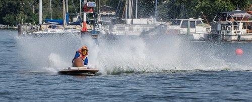vandens sportas, Motorinė valtis rasės, Sportas, lenktynių, lenktynių valtis, lenktynės, Berlynas, vandenys, motorinis, Grünau, varzybos, automobilių lenktynių valtis, greitis, vasara