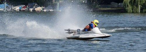 vandens sportas, Motorinė valtis rasės, Sportas, lenktynių, Motorsport, lenktynių valtis, lenktynės, Berlynas, Grünau, vandens, automobilių lenktynių valtis, greitas, greitis, bangų, varzybos, vasara