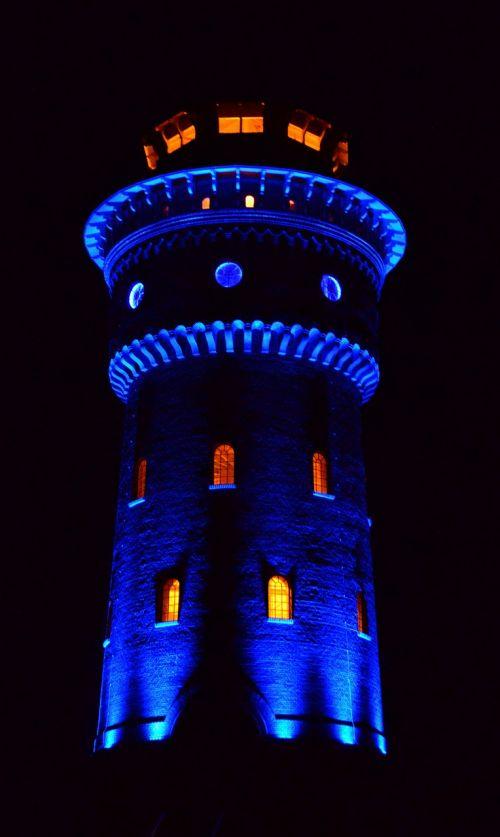 vandens bokštas,bokštas,vandens saugykla,LED apšvietimas,borkum,vandens tiekimas