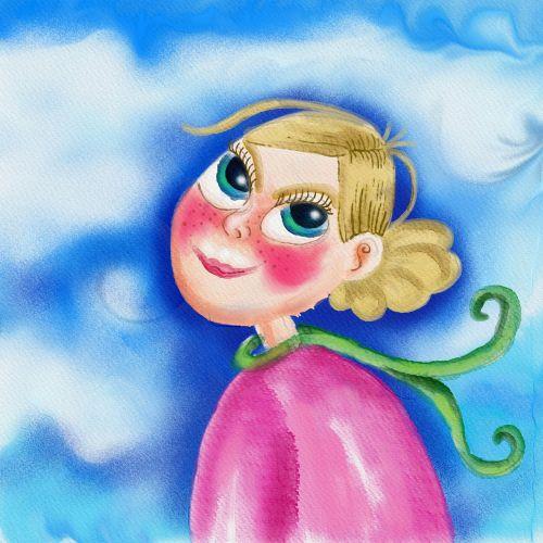 akvarelė,akvarelė,dažyti,dažymas,doodle,animacinis filmas,moteris,asmuo,Moteris,Lady,rožinis,portretas,piešimas,rašalas