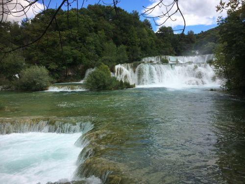 krioklys,kroatija,ežerai,gamta,vanduo,upė,Nacionalinis parkas,kriokliai,Dalmatijos kriokliai,vandenys