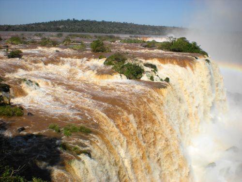 krioklys,kaskados kritimas,upė,iguazu,kritimas,natūralus vanduo,Brazilija,džiunglės,kraštovaizdis