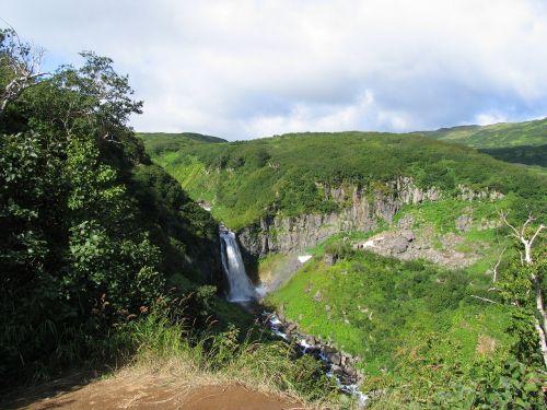 krioklys,spinduliuotė,ruduo,kalnų upelis,kalnai,kraštovaizdis,kelionė,akmenys,gamta,kalnų peizažas,Highlands,kalnų slėnis,aukštis,turizmas,kamchatka,vanduo,sniegas,sniegas