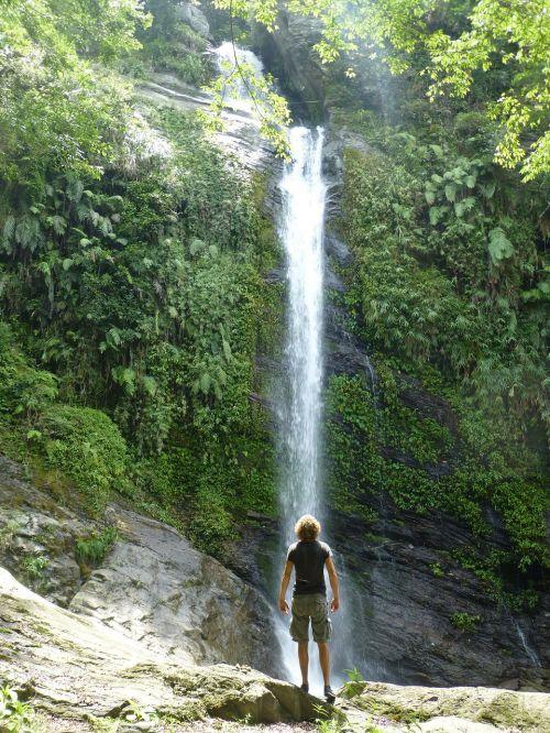 krioklys,Taivanas,džiunglės,kalnai
