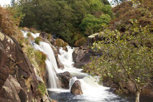 krioklys, gamta, upė, vanduo, kraštovaizdis, augmenija, akmenys, Galicia, zen, takas, uolos ir augmenijos, kalnas