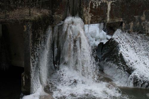 krioklys,ledkalnis,ledo laipiojimas,lipti,kalnai,sušaldyta,varveklių,Gorge