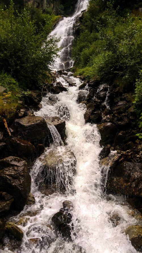 Krioklys, Gamta, Kraštovaizdis, Vanduo, Kalnai, Srautas, Skaidrus Vanduo, Kriokliai, Murmur, Natūralus Vanduo