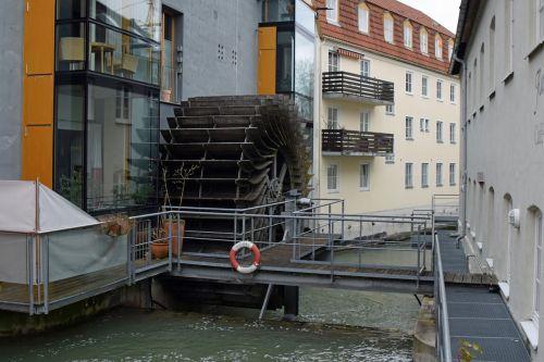 vandens ratas,Bachas,vandenys,mühlbach,malimo ratas,Landsbergas,idiliškas
