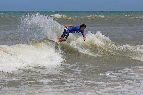 bangos, papludimys, vandenynas, vasara, Surf, pakrantė, jūra, bangų, pakrantė